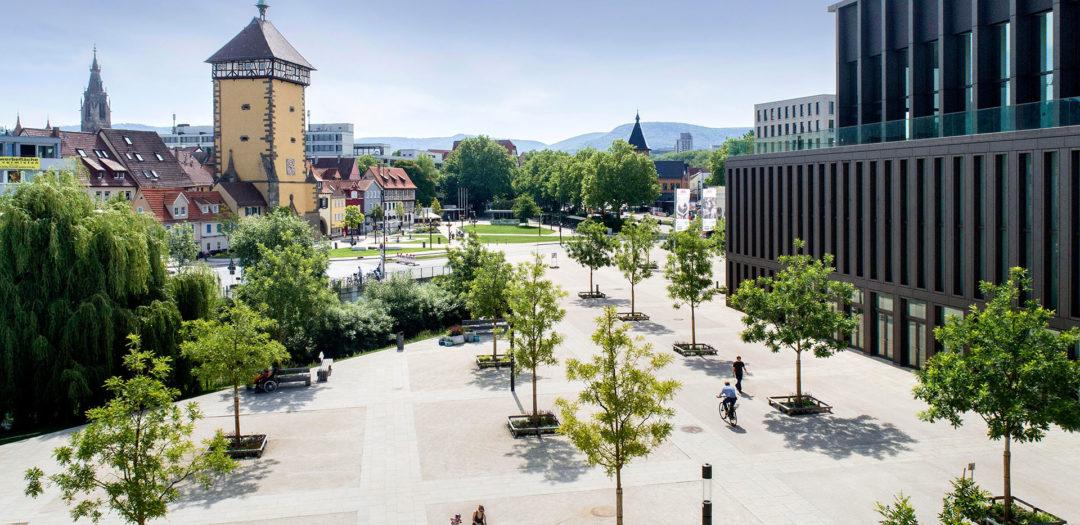 Reutlingen, Tübinger Tor, Stadthalle, Bürgerpark, 2018-05-26